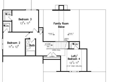 Jackson Floor Plan 2nd Level